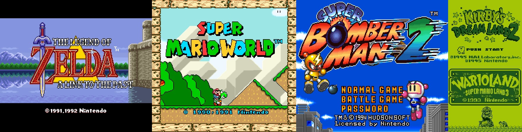 Title Screens of some of the first games I ever played.
