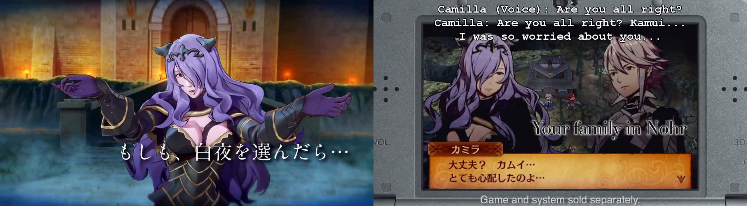 Camilla, one of the Avatar's Nohrian kin.