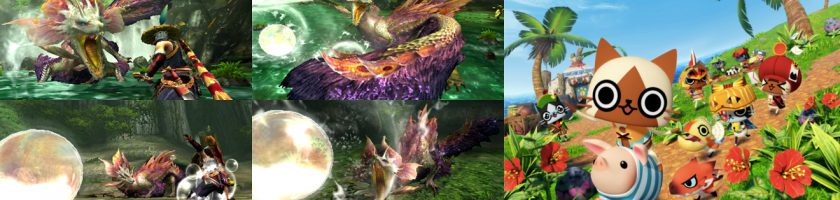 Monster Hunter X and Diary screenshots and artwork feature