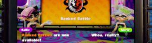 Splatoon Ranked Battles Open Feature