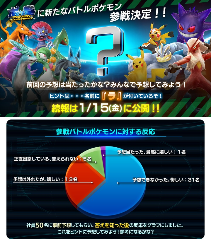 Pokken Tournament New Ra Fighter and Staff Poll