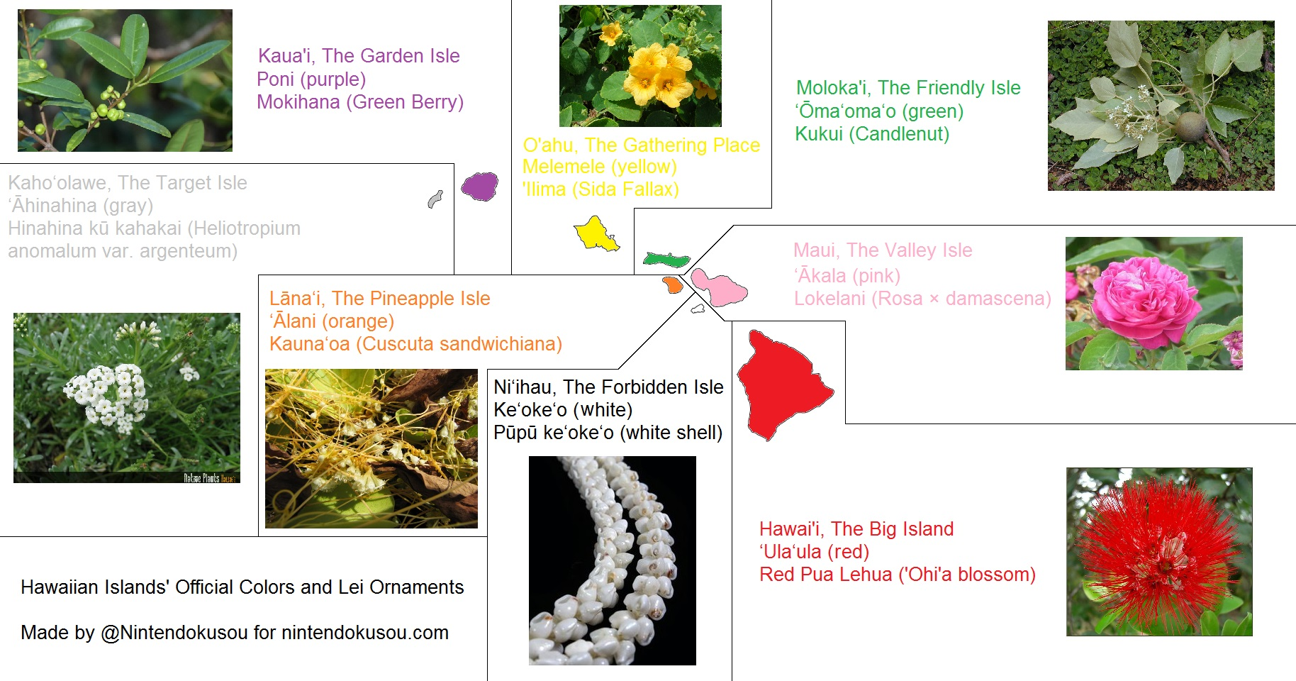 hawaiian-islands-official-colors-and-lei-ornaments