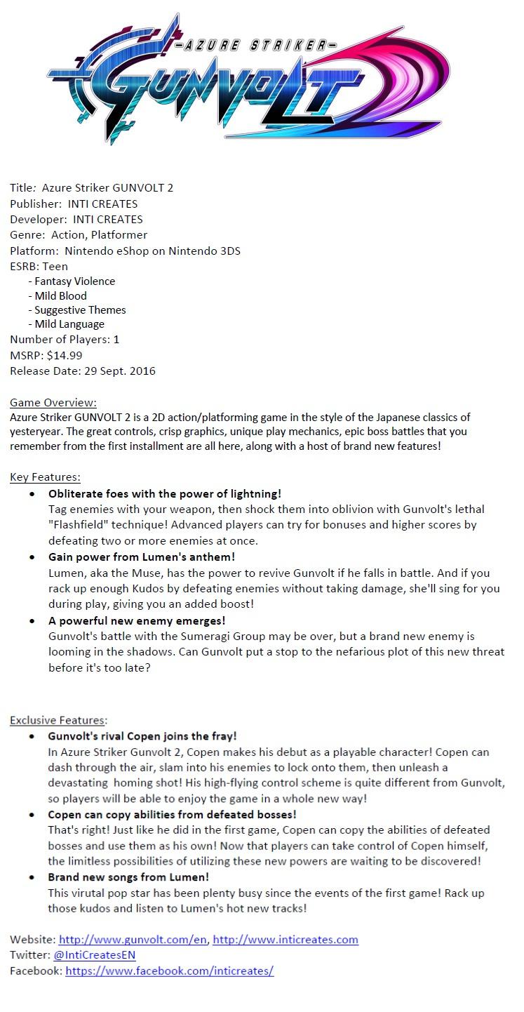 azure-striker-gunvolt-2-fact-sheet